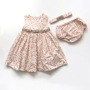 Toddler Girl Flower Dress Set